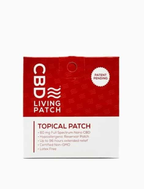 CBD Living Topical Transdermal Patch 60 mg